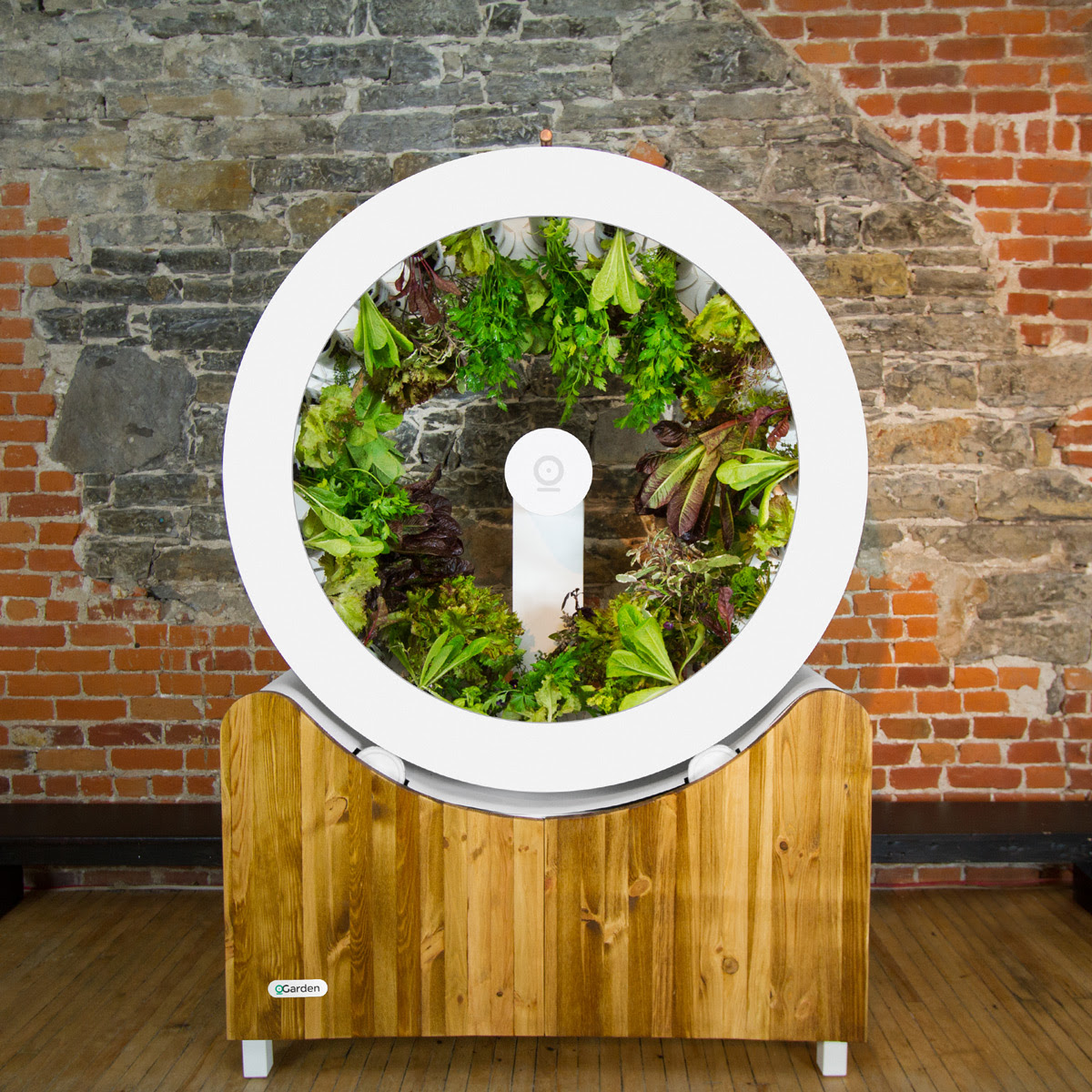 Voici OGarden  Rotating Planter Wheel With Central Light Source  The Green Head