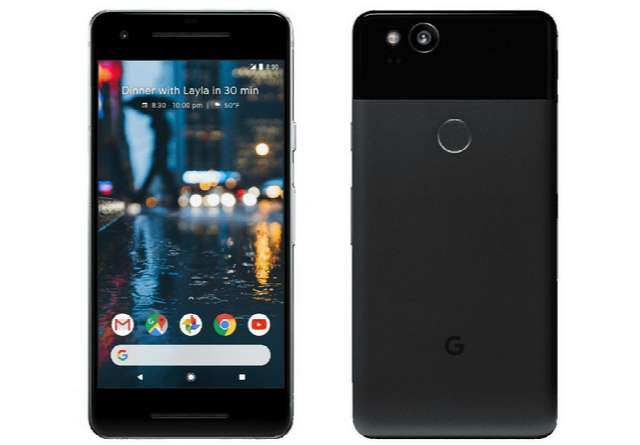 Google Pixel 2 front and rear