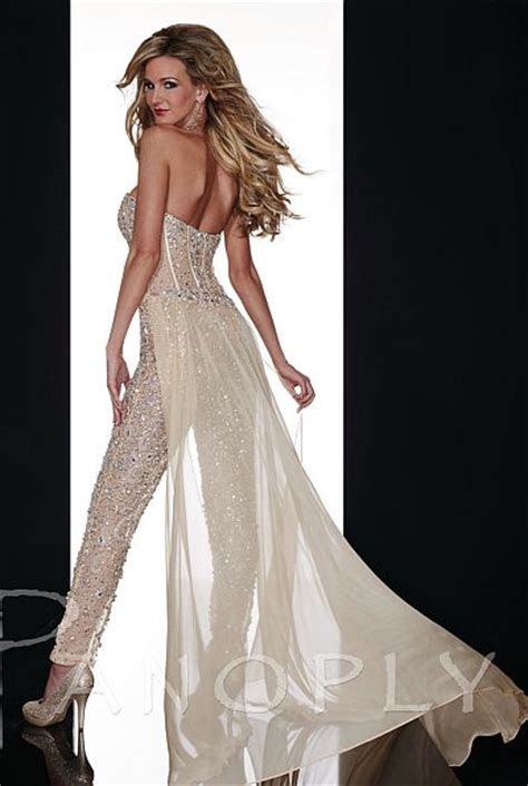 panoply sheer beaded corset jumpsuit  french novelty