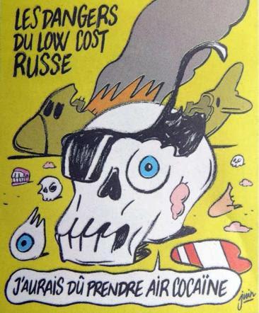 """Aereo Sinai, il Cremlino contro Charlie Hebdo: """"Vignette sacrileghe"""""""