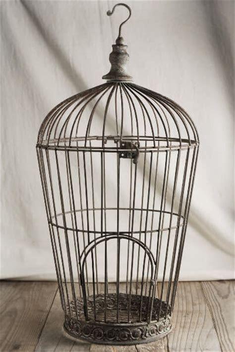 Distressed Wire Birdcage Pompeii 21in