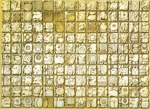 Jeroglíficos del Templo de las Inscripciones