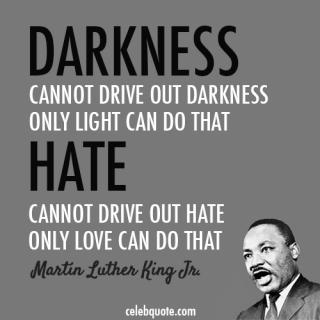 MLK light and love