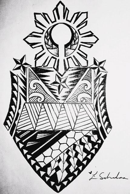 Filipino Tribal Arm Tattoo Design