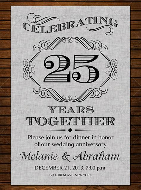 22  Anniversary Invitation Templates   PSD, AI, Word