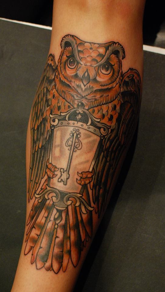 Neo traditional owl by Alex Roze by HammersmithTattoo on ...
