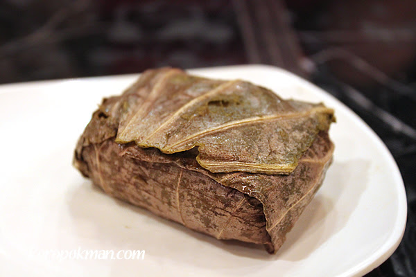 Glutinous Rice with Lotus Paste in Lotus Leave