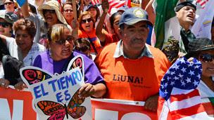 Marcha por el 1° de mayo en Los Ángeles, 2013