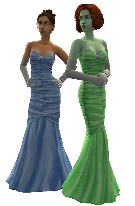 Mod The Sims - Princess Gowns for Teens
