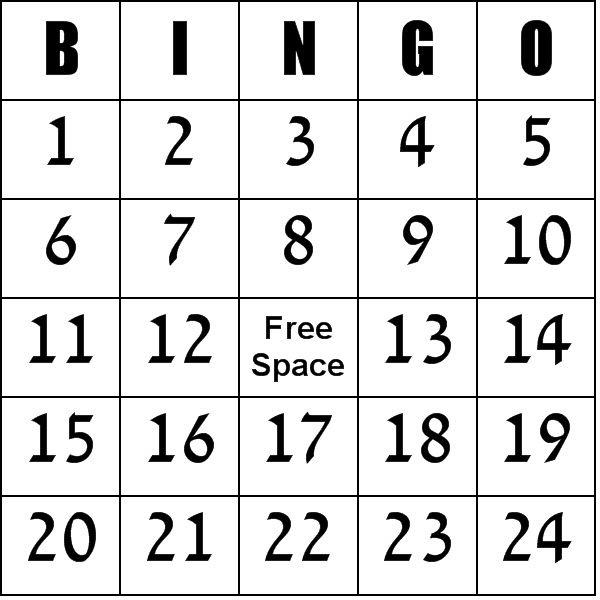 Printable Bingo Cards Kindergarten Calendar June