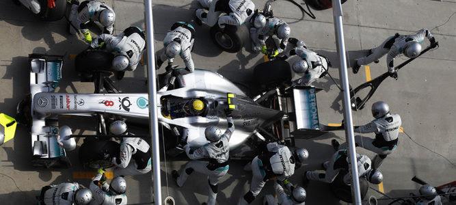 Pitstop parada en boxes Rosberg Mercedes GP