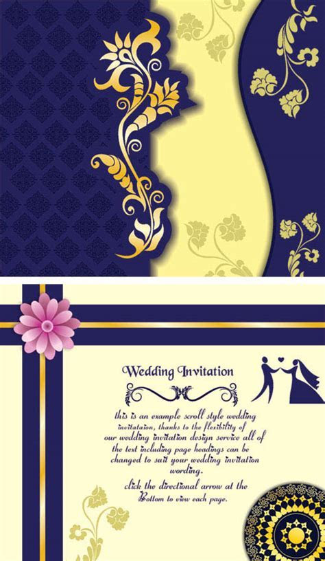 Free Wedding Invitation Samples   Coreldraw Wedding Card