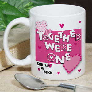 Together We're One Personalized Coffee Mug