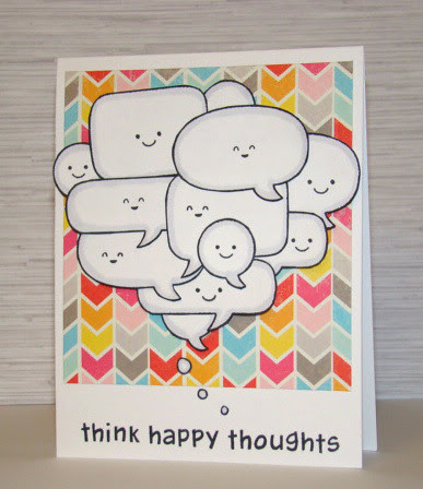 think happy thoughts card - ls