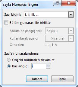Wordde Iki Farklı Formatta Sayfa Numarası Nasıl Verilir Www