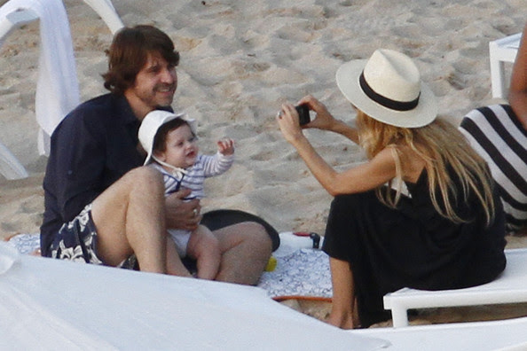 Rachel Zoe hangs out at Flamands beach in St Barts with her husband Rodger Berman and her son Skylar. The family lounged on the beach and later met up with fashion designer Marc Jacobs and his ex-boyfriend.