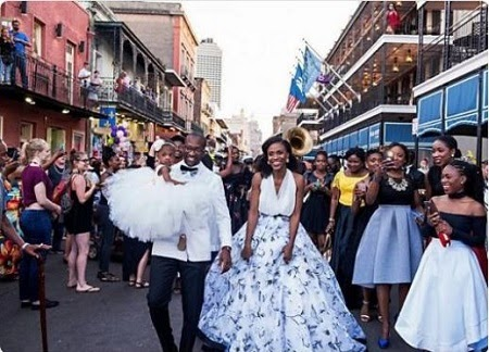 Photo: Nigerian Man Shot Down American Streets Throwing A Lavish Birthday part For His Wife