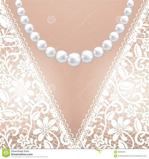 Decolette Of White Lace Bridal Dress Stock Vector   Image