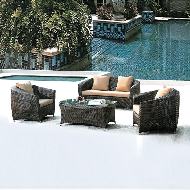 Philippines Poly Rattan Outdoor Furniture Wicker Semi ...