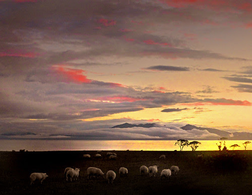 Cloudy Arran Sunset by g crawford