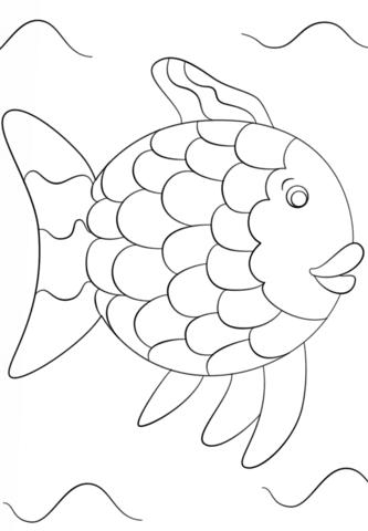 Disegno Di Il Pesce Arcobaleno Da Colorare Disegni Da Colorare E