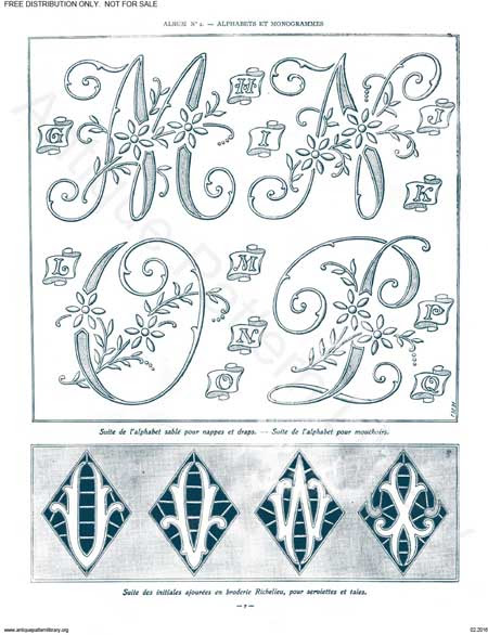 free Monograms for Hand Embroidery 5