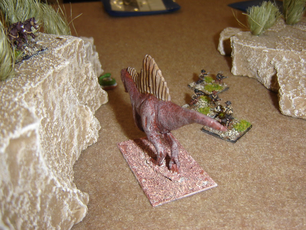 Spinosaurus charges Americans