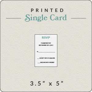 Print Your Own Design 35x5 Rsvp Flat Card