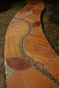 mosaic walkway
