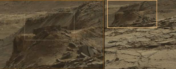 Resultado de imagen de NASA encontró la pared antigua en Marte