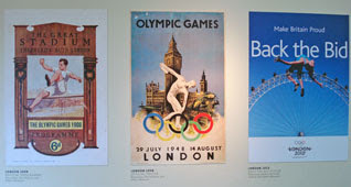 London Olympic posters - 1908, 1948, 2012