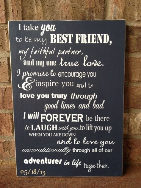 I Take You To Be My Best Friend Custom Wood Sign ~ Wedding