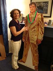 me with cardboard Elvis
