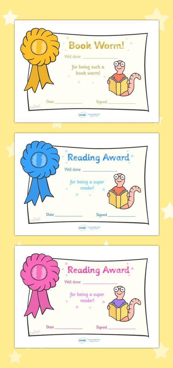 Free Printable Editable Reading Award Certificates | Reading ...
