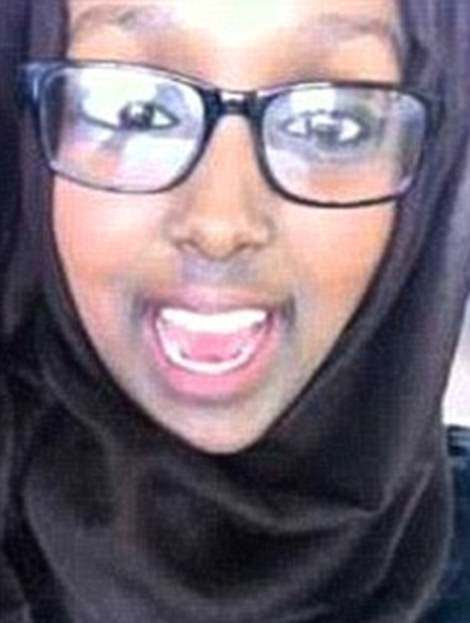 Twin pupils, aspiring medical students Zahra  (pictured) and Salma Halane, left their homes in Manchester and moved to ISIS-controlled Syria