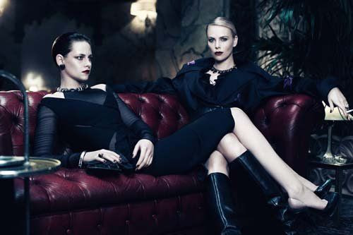 Interview magazine - June/July 2012, Charlize Theron, Kristen Stewart