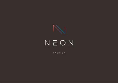 neon logo design  behance