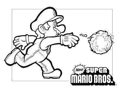 mario bros printable coloring pages