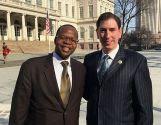 Brooklyn DA Ken Thompson, NY City Council member Chaim Deutsch.