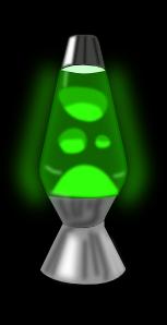 Lava Lamp Glowing Green Clip Art