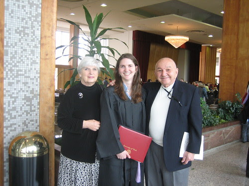 Rebecca with her grandparents