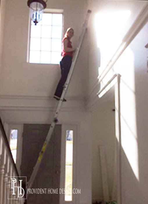 The Secret To Painting A 2 Story Wall
