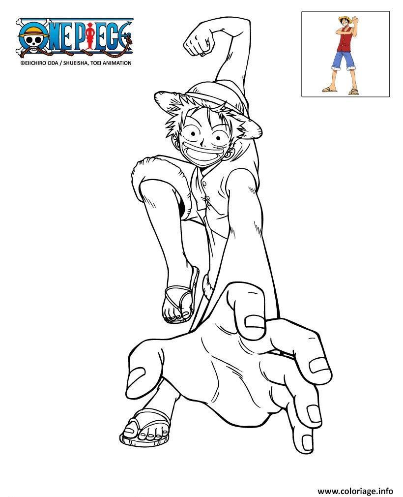 Coloriage epiece Luffy En Action Dessin  Imprimer