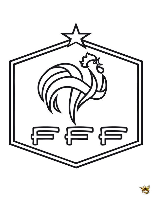 Coloriage Equipe De France écussion De Léquipe à Imprimer