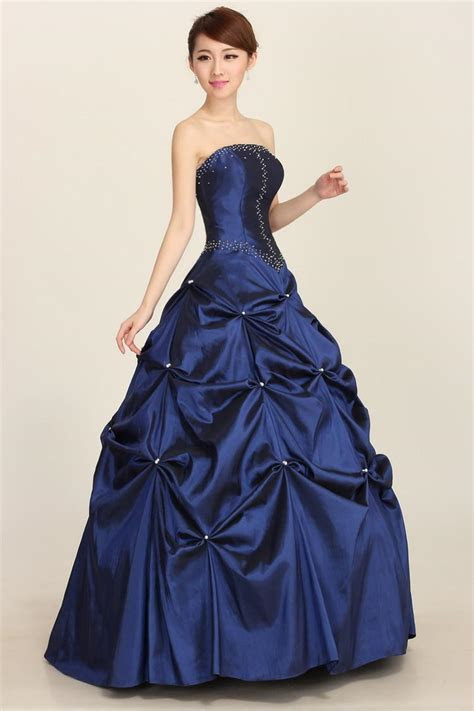 2015 Blue Bateau Ball Gown Wedding Dresses Junior