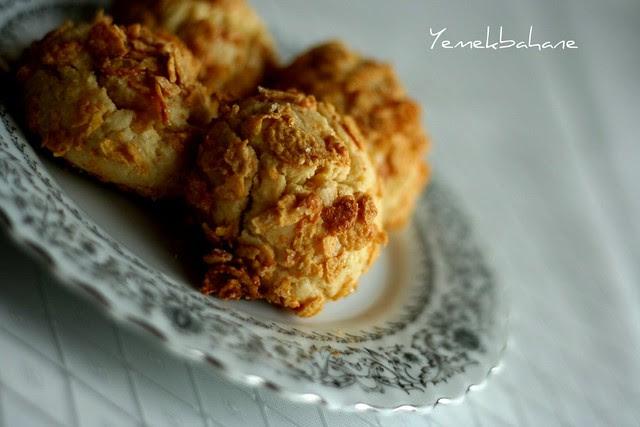 cornflakesli kurabiye