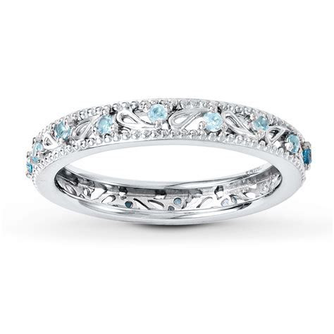 Stackable Ring Blue Topaz Sterling Silver   37350470799