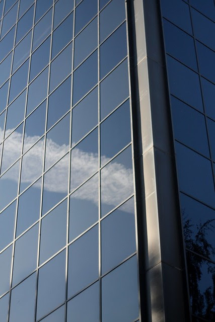 reflected contrails