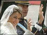 Felipe Spánarprins og eiginkona hans Leticia prinsessa