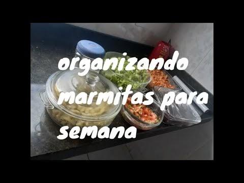 organizando marmitas para semana